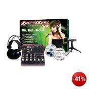 Jammin Studio-Pack 702 Professional Recording Studio Pack inkl. Kopfhörer, Mikrofon und Mischpult