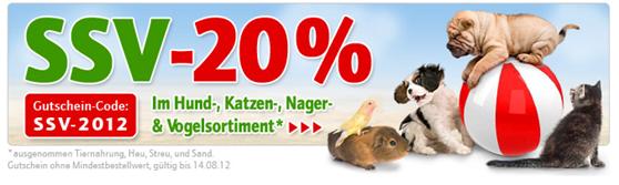 image57 Zooplus.de: 20% Rabatt auf alle Artikel (außer Tiernahrung, Heu, Streu und Sand)