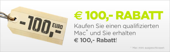 1209 cms 100euro1 MacTrade.de: 100 Euro Rabatt auf MacBook Air, MacBook Pro, iMac und Mac Pro