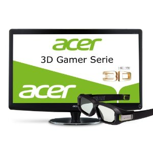 Acer HN274HBbmiiid 68,6 cm (27 Zoll) 3D LED Monitor (DVI, VGA, HDMI, 2ms Reaktionszeit) schwarz inkl. Nvidia 3D Vision2 Shutter Brille