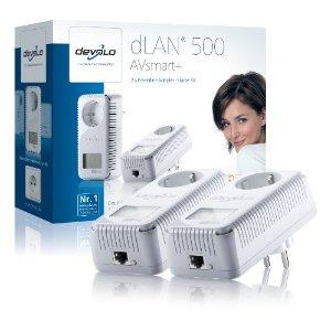 Devolo dLAN 500 AVsmart+ Starter Kit (Netzwerk aus der Steckdose)