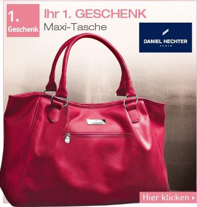 Ihr 1. GECHENK: Maxi-Tasche von DANIEL HECHTER.