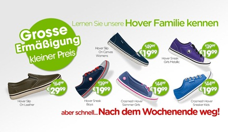 Hover Wochenend-Angebote Crocs