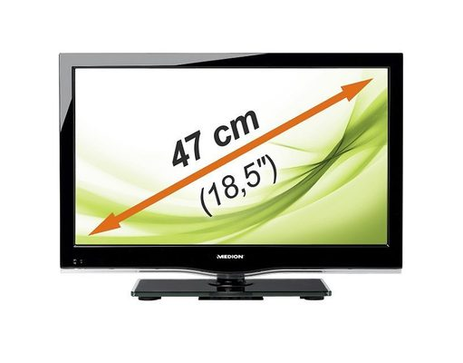 28133784420382 Medion Life P12079 47 cm (18,5 Zoll) LED Backlight Fernseher mit integrierten DVD Player für 107,95€