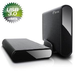 Fantec DB-ALU3e externe Festplatte 3TB (8,9 cm (3,5 Zoll), eSATA, USB 3.0) schwarz