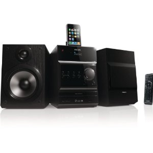 Philips DCM 377 Kompaktanlage (iPhone/iPod Dock, USB 2.0, 100 Watt