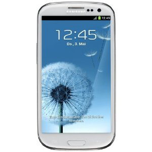 Samsung Galaxy S III I9300 Smartphone 32GB (12,2 cm (4,8 Zoll) HD Super-AMOLED-Touchscreen, 8 Megapixel Kamera, Android 4.0) marble-white