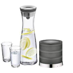 WMF 0617709998 Wasserkaraffe Basic 1 Liter mit Kühler und 2 Wassergläsern (WMF Aquarista-Set I)