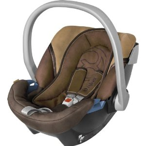 Cybex 050074005 Aton PLUS  Wildlederoptik Cinnamon - brown / dark brown, Babyschale Gruppe 0 +