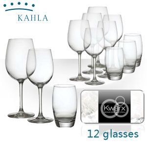 Kahla 12-teiliges Set bestehend aus lebenslang glänzenden Kwarx Gläsern