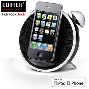 Edifier Black Tick Tock Alarm Docking-Station für iPhone