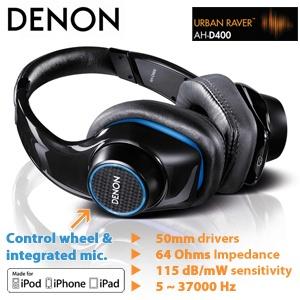 Denon AH-D400 Bügel-Kopfhörer für das extra leistungsstarker Bass-Erlebniss!