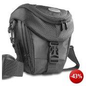 Mantona Colt SLR-Kameratasche (Universaltasche mit Schnellzugriff, Staubschutz, Tragegurt und Zubehörfach) schwarz