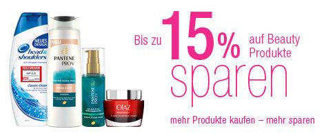 bis zu 15% sparen auf Kosmetik-Artikel
