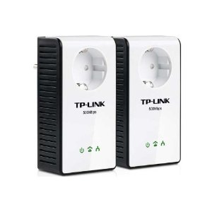 412vy4o4iwl. sl500 aa300  TP Link TL PA551KIT Powerline Adapter Starter Kit (500 Mbps Pass through, Gigabit LAN) für 54,90€