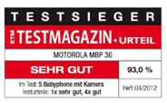 image thumb10 Motorola MBP36 Digitales Babyphone mit 3,5 Zoll Farbdisplay am Empfänger und Kamera im Sender für 149,90€