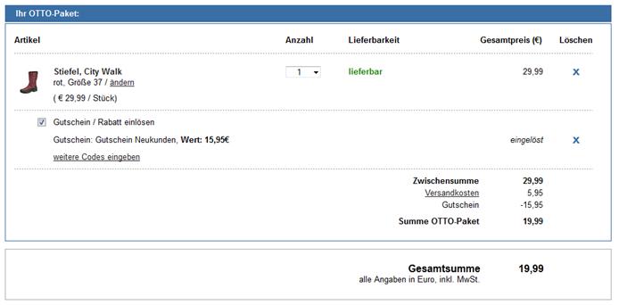 image thumb3 Otto.de – 15,95 Euro Neukundengutschein (ab 20€ einlösbar)