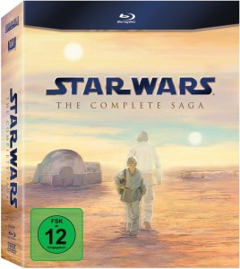 starwars bluray 268x300 Blu Ray Star Wars: The Complete Saga I VI (9 Discs) für €73,27