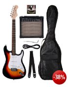 Rocktile Banger's Pack E-Gitarren Set, 7-teilig sunburst