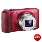 Sony DSC-H90R Cyber-shot Digitalkamera (16,1 Megapixel, 16-fach opt. Zoom, 7,5 cm (3 Zoll) Display, Schwenkpanorama) rot