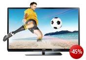 Philips 47PFL4307K 119 cm (47 Zoll) 3D LED-Backlight-Fernseher, Energieeffizienzklasse A+ (Full-HD, 200Hz PMR, DVB-T/C/S2, CI+, SmartTV, WiFi ready, USB Recording) schwarz