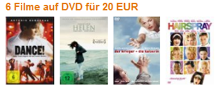 image360 6 Filme auf DVD für 20€ inklusive Versand