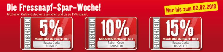 120eca21811403e2ff7c90d091343aebf4e48e31 m4 Fressnapf Spar Woche – je nach Bestellwert zwischen 5 15% Rabatt