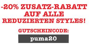 image228 Puma.de: auf viele Artikel bis zu 50% Rabatt + 20% Extrarabatt durch Gutscheincode