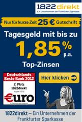 image thumb3 1822direkt: 25€ Startguthaben (Mindesteinlage 5000€) und 1,85% aufs Tagesgeldkonto