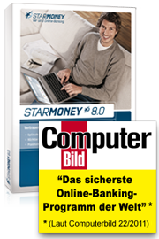 starmoney 80 online banking software 180x270 72ppi computerbild1 Ein Jahr Vollversion StarMoney 8.0 kostenlos