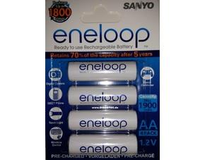 29227781619742 Sanyo eneloop HR 3UTGB 4BP AA Mignon Akku (1900mAh, 2 x 4 er Pack) für 14,76€