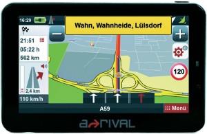 arrival nav pns50 300x195 A RIVAL Navigationssystem NAV PNS 50 (5 Display, Europakarten, TMC, Fahrspurassistent) für €61.
