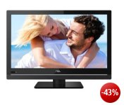 TCL L19D3300C 48 cm (19 Zoll) LED-Backlight-Fernseher, Energieeffizienzklasse A (HD-Ready, DVB-C/T, CI+, 2x HDMI, USB 2.0, Hotelmodus) schwarz