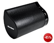 Karcher BT 4160 mobiler Bluetooth-Stereo-Lautsprecher (2x 2,5 Watt RMS, Freisprechfunktion, AUX-IN) schwarz