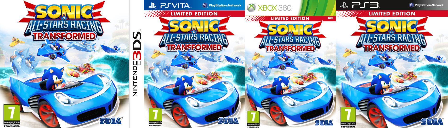 sonic all Sonic & All Stars Racing Transformed Limited Edition (XBox 360,Sony PS3,PS Vita,Nintendo 3DS & Wii U) für €17,70