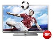 Philips 55PFL5507K/12 139 cm (55 Zoll) 3D LED-Backlight-Fernseher, EEK A++ (Full-HD, 400Hz PMR, DVB-C/-T/-S, CI+, Smart TV Plus, WiFi, USB Recording) silber schwarz gebÃrstet