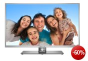 Thomson 32FU5555S 81 cm (32 Zoll) LED-Backlight-Fernseher EEK A (Full-HD, 100 Hz CMI, DVB-C/S2/T, Smart TV, WiFi-Ready inkl. WLAN-USB-Stick, 4x HDMI, CI+, USB 2.0) silber