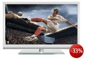 Grundig Bundesliga TV 46 VLE 8270 WL 117 cm (46 Zoll) 3D LED-Backlight-Fernseher, EEK A (Full-HD, 400 Hz PPR, DVB-T/C/S2, Smart Interactive TV) weiß
