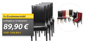 image10 4x Esszimmerstuhl Littau für 88,11€ inklusive Versand