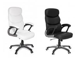 image82 Amstyle Design Chefsessel Capri Kunstleder Bürostuhl / Drehstuhl bis 120 kg in weiß oder schwarz ab 71,10€