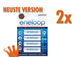 image94 8x Sanyo eneloop Akku NiMH Mignon AA 2000 mAh neuste Version für 14,99€