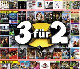 image226 Amazon: 3 für 2 Aktion (3 Artikel aus dem Bereich Musik, Film oder Games aussuchen und den günstigsten Artikel gratis erhalten)