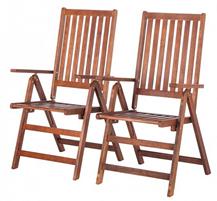 image394 Holzklappstühle (Eukalyptus) 2er Set für 49,99€