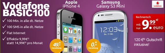 image396 [Top] iPhone 4 (8GB) für einmalig 49€ im Vodafone Vertrag mit 100 Freiminuten, 100 SMS + Datenflat (100MB) für 9,99€/Monat