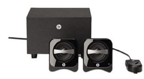 image54 HP 2.1 PC lautsprechersystem inkl. Kabelfernbedienung für 13,99€