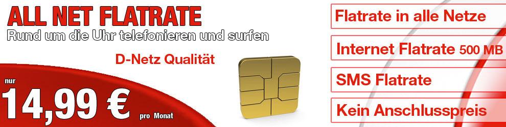 All Net Flat im Vodafone Netz