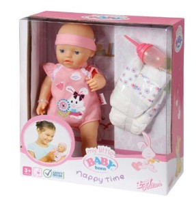 babyborn nappytime 287x300 Zapf Creation Spielpuppe My little BABY born Nappy Time für €19,99
