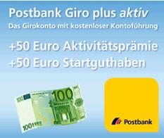 image92 [Noch 2 Tage zwischen 19 21Uhr] Kostenloses Postbank Giro plus Konto eröffnen und mit minimalen Aufwand 2 x 50€ bekommen