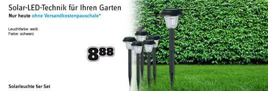 image382 LED Solar Gartenleuchte 5er für 8,88€ inklusive Versand