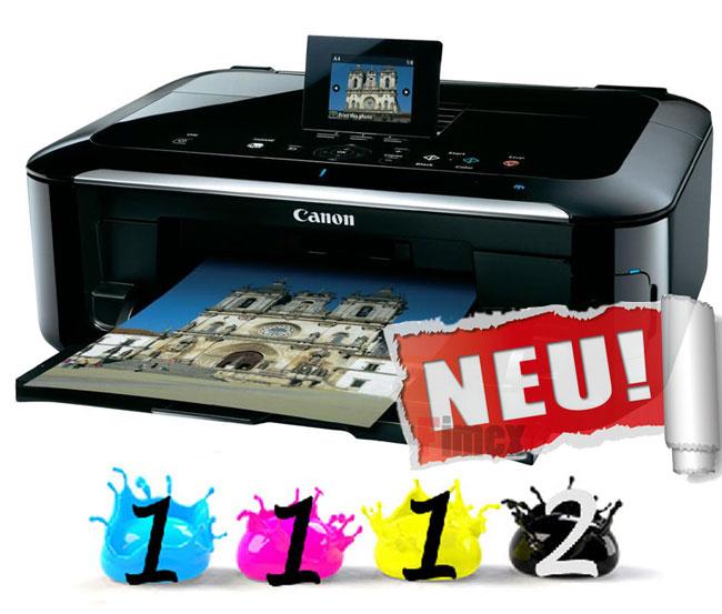 mg5350 5 Canon Pixma MG5350 Multifunktionsgerät (Scanner, Kopierer, Drucker, USB 2.0) inkl. 5 Patronen & USB Kabel für 79,99€
